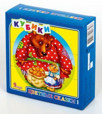 Десятое королевство Кубики Цветные сказки-1 (без обклейки) 9 шт