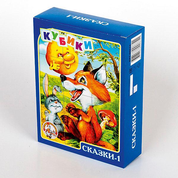Кубики Сказки-1 (без обклейки) 12 штКубики<br>Характеристики:<br><br>• возраст: 3+;<br>• количество кубиков: 12 шт.;<br>• размер упаковки: 16,6x12,6x4,2 см;<br>• масса: 180 г.<br><br>Набор состоит из 12 пластмассовых кубиков-картинок размером 4 см. Малышам предложено собрать шесть красочных картинок по мотивам детских популярных сказок. <br><br>В результате игровой деятельности дети будут развивать внимание, память, речь, воображение, расширять кругозор и словарный запас.<br><br>Картинки в наборе пластмассовых кубиков выполнены по технологии прямой печати, поэтому изображения более долговечные, меньше подвержены абразивному износу и будут радовать сочными и яркими красками.<br><br>Кубики «Сказки-1» (без обклейки), 12 шт., «Десятое королевство» можно купить в нашем интернет-магазине.<br><br>Ширина мм: 166<br>Глубина мм: 126<br>Высота мм: 42<br>Вес г: 210<br>Возраст от месяцев: 420<br>Возраст до месяцев: 2147483647<br>Пол: Унисекс<br>Возраст: Детский<br>SKU: 7245807