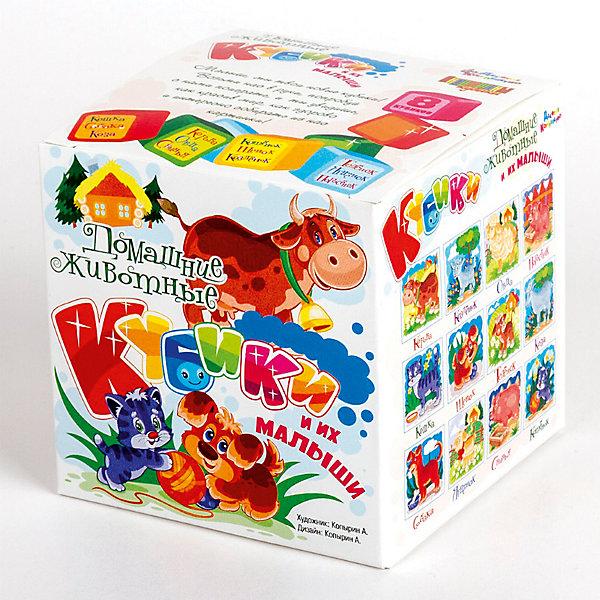 КубикиДомашние животные  и их малыши (без обклейки) 8 шт.Кубики<br>Характеристики:<br><br>• возраст: 3+;<br>• количество кубиков: 8 шт.;<br>• размер упаковки: 8,5x8,5x8,5 см;<br>• масса: 110 г.<br><br>Набор состоит из 8 пластмассовых кубиков-картинок с размером граней 4 см. Малышам предложено собрать 12 красочных картинок с изображениями домашних животных и их детенышей.<br><br>В игре дети будут развивать внимание, память, речь, воображение, расширять кругозор и словарный запас.<br><br>Картинки в наборе пластмассовых кубиков выполнены по технологии прямой печати, поэтому изображения более долговечные, меньше подвержены абразивному износу и будут радовать сочными и яркими красками.<br><br>Кубики «Домашние животные и их малыши» (без обклейки), 8 шт., «Десятое королевство» можно купить в нашем интернет-магазине.<br><br>Ширина мм: 85<br>Глубина мм: 85<br>Высота мм: 85<br>Вес г: 110<br>Возраст от месяцев: 420<br>Возраст до месяцев: 2147483647<br>Пол: Унисекс<br>Возраст: Детский<br>SKU: 7245809