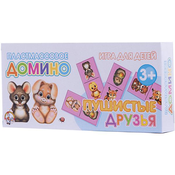 Домино пластмассовое Пушистые друзьяДомино<br>Характеристики:<br><br>• возраст: 3+;<br>• размер упаковки: 20x9,6x3 см;<br>• масса: 160 г.<br><br>Пластмассовое домино предназначено для занятий с детьми. Настольная игра с изображениями замечательных животных понравится и мальчикам и девочкам. Играя с ребенком, можно вместе изучать виды животных, населяющих нашу планету, тренируя при этом память и внимательность. <br><br>Забавные животные обязательно увлекут маленького непоседу, а рассказанные родителями истории о них запомнятся надолго. <br><br>В процессе сопоставления карточек у малышей закладываются основы образного мышления, логики и внимания.<br><br>Домино пластмассовое «Пушистые друзья», «Десятое королевство» можно купить в нашем интернет-магазине.<br><br>Ширина мм: 200<br>Глубина мм: 96<br>Высота мм: 30<br>Вес г: 160<br>Возраст от месяцев: 420<br>Возраст до месяцев: 2147483647<br>Пол: Унисекс<br>Возраст: Детский<br>SKU: 7245826