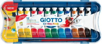 GIOTTO EXTRA FINE POSTER PAINT, 12 цв., артикул:7248296 - Канцтовары