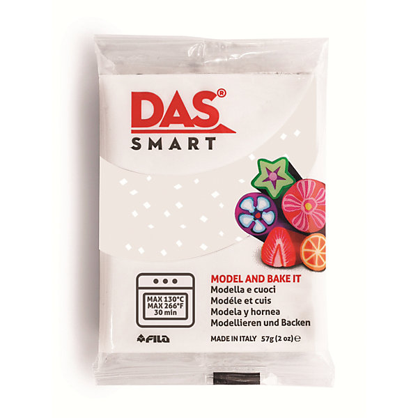 DAS SMART 57 GМасса для лепки<br>DAS SMART GLITTER Полимерная паста для моделирования, 57 гр., белый. Каждая упаковка включает в себя две<br>индивидуально упакованных пластины. Изделия DAS SMART необходимо запекать в духовке при температуре<br>130°C в течение 30 минут. Изделия можно запекать несколько раз, добавляй декоративные<br>элементы в несколько этапов.<br><br>Ширина мм: 70<br>Глубина мм: 55<br>Высота мм: 5<br>Вес г: 0<br>Возраст от месяцев: 36<br>Возраст до месяцев: 2147483647<br>Пол: Унисекс<br>Возраст: Детский<br>SKU: 7248299