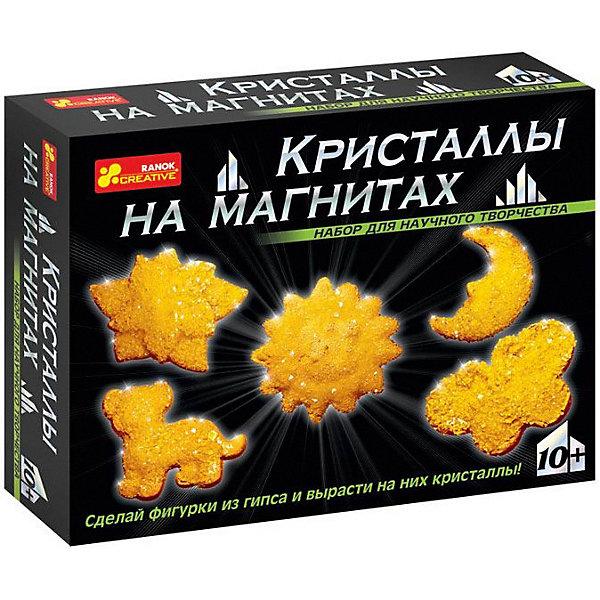 Набор для опытов Кристаллы на магнитах (желтые)Выращивание кристаллов<br>И взрослые, и дети восхищаются драгоценными камнями. А ты только представь, что у тебя на холодильнике появятся магнитики, усыпанные переливающимися кристаллами! И эти кристаллы ты вырастишь сам на обыкновенных фигурах из гипса. Создание такого чуда не займет много времени, зато доставит много радости. Эти «драгоценные» магнитики ты сможешь не только повесить на своем холодильнике, но и подарить своим друзьям.<br>В набор входит: пластиковая форма, магниты (5 шт.), пластиковая ложка, скотч, порошок для выращивания кристаллов, гипс, пластиковая тарелка, защитные перчатки, пошаговая инструкция.<br>Ширина мм: 170; Глубина мм: 50; Высота мм: 220; Вес г: 355; Возраст от месяцев: 120; Возраст до месяцев: 120; Пол: Унисекс; Возраст: Детский; SKU: 7250196;