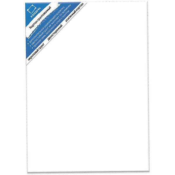 Картон грунтованный двухсторонний (30х40 см)Холсты<br>Одна из самых популярных основ для живописи среди студентов и начинающих художников.  Обе стороны плотного картона толщиной 3 мм пригодны для живописи маслом, темперой и акрилом, поэтому он чаще всего используется для этюдов, пленэров, эскизов и студенческих работ.<br><br>Ширина мм: 400<br>Глубина мм: 300<br>Высота мм: 15<br>Вес г: 210<br>Возраст от месяцев: 168<br>Возраст до месяцев: 2147483647<br>Пол: Унисекс<br>Возраст: Детский<br>SKU: 7250944