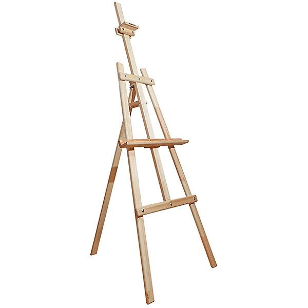 Мольберт Лира Симпл Мольберты<br>Мольберт Лира классической конструкции из натурального дерева. Угол наклона опорной ноги можно изменять, высота полки и фиксатора холста также регулируется. Бюджетный и практичный вариант студийного мольберта.<br><br>Ширина мм: 170<br>Глубина мм: 120<br>Высота мм: 55<br>Вес г: 5100<br>Возраст от месяцев: 168<br>Возраст до месяцев: 2147483647<br>Пол: Унисекс<br>Возраст: Детский<br>SKU: 7250997