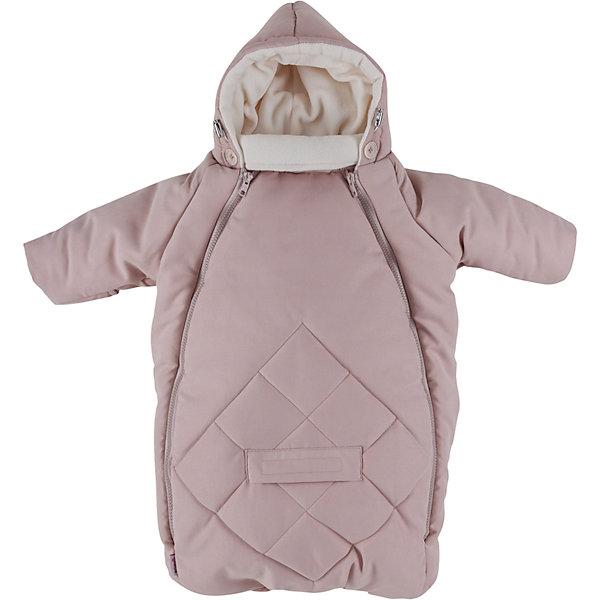 Конверт для новорожденного с рукавами Mammie, пудраДетские конверты<br>Исключительно теплый конверт Mammie с капюшоном и рукавами предназначен для прогулки с малышом в коляске, идеальный вариант для выписки в автокресле. Капюшон плотно прилегает к голове благодаря утяжкам. Длинный воротничок стойка надежно защищает шею ребенка, в сильные морозы воротник можно отвернуть и закрыть лицо ребенка до носа. Мягкая подкладка из флиса. Верх выполнен из мягкой эко замши с эффектом «персика» и водоотталкивающей пропиткой. Гипоаллергенный утеплитель файберпласт. Отвороты на ручках заменяют варежки. 2 молнии, благодаря которым конверт глубоко расстегивается, чтобы ребенка было легче одевать и раздевать. Прорези для автомобильных ремней безопасности. Простота в уходе — конверт можно стирать в стиральной машине.<br>Размеры: 70?40 смТемпературный режим:  до -25 градусов<br>Ширина мм: 200; Глубина мм: 300; Высота мм: 50; Вес г: 500; Возраст от месяцев: 0; Возраст до месяцев: 6; Пол: Унисекс; Возраст: Детский; SKU: 7252709;