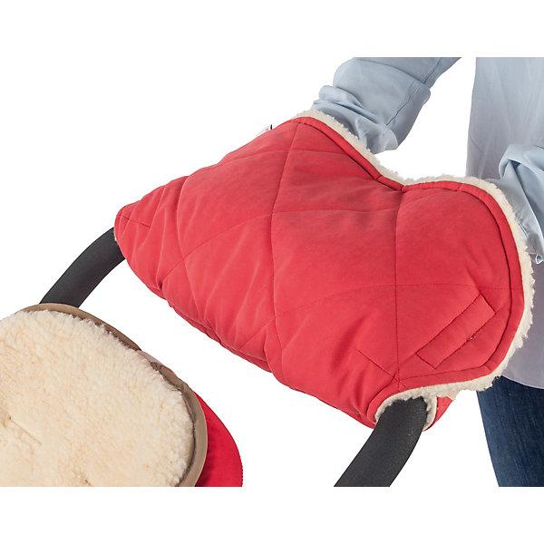 Муфта для рук шерстяная Mammie, красныйАксессуары для колясок<br>Мягкая шерстяная муфта для рук Mammie согреет мамины руки во время длительных прогулок с малышом. Этот теплый аксессуар снаружи выполнен из эко замши с эффектом «персика» с водоотталкивающей пропиткой, внутри приятный на ощупь мех (80% овечья шерсть). Утеплитель Alpolux - экологически чистый утеплитель премиум класса, разработанный лучшими австрийскими экспертами. Уникальное сочетание натуральной шерсти мериноса и микроволокна помогает поддержать оптимальную для вашего тела температуру.<br>Ширина мм: 100; Глубина мм: 200; Высота мм: 50; Вес г: 300; Возраст от месяцев: 192; Возраст до месяцев: 2147483647; Пол: Унисекс; Возраст: Детский; SKU: 7252712;