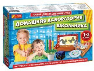 Ранок Набор для экспериментов «Домашняя лаборатория школьника»