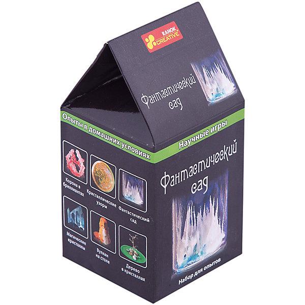 Научные игры «Фантастический сад»Химия и физика<br>Характеристики товара:<br><br>• возраст: от 8 лет;<br>• материал: стекло, парафин, картон;<br>• размер упаковки: 16х8х8 см.;<br>• упаковка: картонная коробка;<br>• вес в упаковке: 115 гр.;<br>• бренд, страна: Ranok Creative, Украина.<br><br>Набор для опытов «Фантастический сад» от бренда Ranok Creative - представляет собой уникальную возможность устроить опыты по химии прямо у себя в комнате!<br><br>В комплекте представлены различные химические реактивы, измерительный стаканчик, а также специализированное оборудование и инструкция к работе. Ребенок сможет познакомиться с различными химическими реакциями в наглядном виде.<br><br>Рекомендуемый возраст: от 8 лет, строго под наблюдением взрослых.<br><br>Набор для опытов «Фантастический сад», Ranok Creative можно купить в нашем интернет-магазине.<br>Ширина мм: 80; Глубина мм: 80; Высота мм: 120; Вес г: 115; Возраст от месяцев: 96; Возраст до месяцев: 192; Пол: Унисекс; Возраст: Детский; SKU: 7252945;