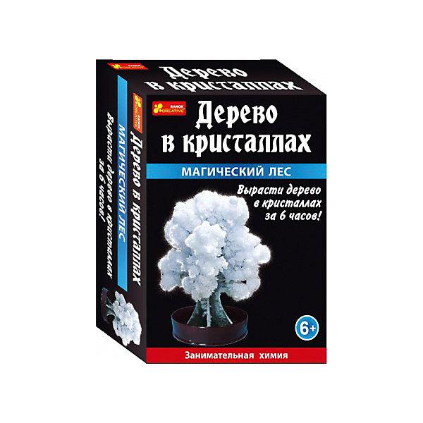 Набор для опытов Дерево в кристаллах (белое)Выращивание кристаллов<br>Дерево в кристаллах - это удивительное перевоплощение картонной основы в пушистое красивое дерево, которое можно вырастить всего за пару часов.<br>В комплекте: подставка-держатель, жидкость для выращивания кристаллов, картонное деревце, инструкция.<br><br>Ширина мм: 100<br>Глубина мм: 40<br>Высота мм: 140<br>Вес г: 40<br>Возраст от месяцев: 72<br>Возраст до месяцев: 192<br>Пол: Унисекс<br>Возраст: Детский<br>SKU: 7252954