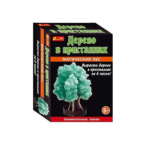 Набор для опытов Дерево в кристаллах (зеленое)Выращивание кристаллов<br>Дерево в кристаллах - это удивительное перевоплощение картонной основы в пушистое красивое дерево, которое можно вырастить всего за пару часов.<br>В комплекте: подставка-держатель, жидкость для выращивания кристаллов, картонное деревце, инструкция<br><br>Ширина мм: 100<br>Глубина мм: 40<br>Высота мм: 140<br>Вес г: 40<br>Возраст от месяцев: 72<br>Возраст до месяцев: 192<br>Пол: Унисекс<br>Возраст: Детский<br>SKU: 7252955