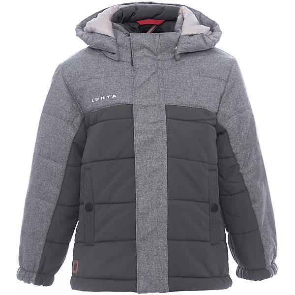 Куртка Luhta для мальчикаВерхняя одежда<br>Характеристики товара:<br><br>• цвет: зеленый<br>• состав ткани: 100% полиэстер<br>• подкладка: 100% полиэстер<br>• утеплитель: 100% полиэстер<br>• сезон: зима<br>• температурный режим: от -20 до +5<br>• особенности модели: с капюшоном<br>• капюшон: съемный<br>• плотность утеплителя: 250 г/м2<br>• застежка: молния<br>• встроенный термометр<br>• страна бренда: Финляндия<br>• страна изготовитель: Китай<br><br>Практичная детская куртка отлично подойдет для зимних морозов. Зимняя куртка дополнена удобными деталями - молния закрыта планкой, рукав заканчивается эластичной резинкой, утяжка по подолу куртки. Эта теплая куртка для мальчика снабжена капюшоном. <br><br>Куртку Luhta (Лухта) для мальчика можно купить в нашем интернет-магазине.<br>Ширина мм: 356; Глубина мм: 10; Высота мм: 245; Вес г: 519; Цвет: зеленый; Возраст от месяцев: 84; Возраст до месяцев: 96; Пол: Мужской; Возраст: Детский; Размер: 128,92,98,104,110,116,122; SKU: 7264071;