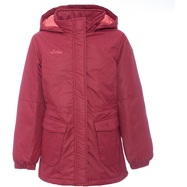 Парка Luhta для девочкиВерхняя одежда<br>Характеристики товара:<br><br>• цвет: розовый<br>• состав ткани: 100% полиэстер<br>• подкладка: 100% полиэстер<br>• утеплитель: 100% полиэстер<br>• сезон: зима<br>• температурный режим: от -15 до 0<br>• особенности модели: с капюшоном<br>• капюшон: несъемный<br>• плотность утеплителя: 200 г/м2<br>• застежка: молния<br>• встроенный термометр<br>• страна бренда: Финляндия<br>• страна изготовитель: Китай<br><br>Яркая детская парка отлично подойдет для зимних морозов. Зимняя куртка дополнена удобными деталями - молния закрыта планкой, рукав заканчивается липучкой, утяжка по подолу куртки. Эта теплая парка для девочки снабжена капюшоном. <br><br>Парку Luhta (Лухта) для девочки можно купить в нашем интернет-магазине.<br><br>Ширина мм: 356<br>Глубина мм: 10<br>Высота мм: 245<br>Вес г: 519<br>Цвет: красный<br>Возраст от месяцев: 144<br>Возраст до месяцев: 156<br>Пол: Женский<br>Возраст: Детский<br>Размер: 158,152,146,140,134,164<br>SKU: 7264087