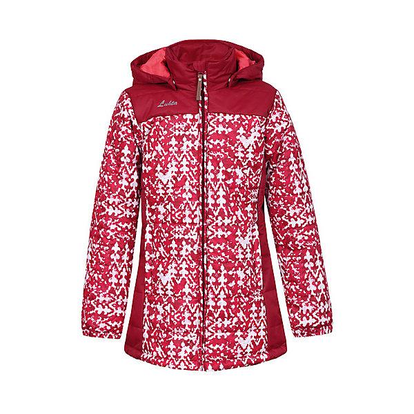 Куртка Luhta для девочкиВерхняя одежда<br>Характеристики товара:<br><br>• цвет: красный<br>• состав ткани: 100% полиэстер<br>• подкладка: 100% полиэстер<br>• утеплитель: 100% полиэстер<br>• сезон: зима<br>• температурный режим: от -20 до +5<br>• особенности модели: с капюшоном<br>• капюшон: съемный<br>• плотность утеплителя: 250 г/м2<br>• застежка: молния<br>• встроенный термометр<br>• страна бренда: Финляндия<br>• страна изготовитель: Китай<br><br>Зимняя куртка дополнена удобными деталями - молния закрыта планкой, рукав заканчивается эластичной резинкой, утяжка по подолу куртки. Эта теплая куртка для девочки снабжена капюшоном. Практичная детская куртка отлично подойдет для зимних морозов.<br><br>Куртку Luhta (Лухта) для девочки можно купить в нашем интернет-магазине.<br>Ширина мм: 356; Глубина мм: 10; Высота мм: 245; Вес г: 519; Цвет: красный; Возраст от месяцев: 156; Возраст до месяцев: 168; Пол: Женский; Возраст: Детский; Размер: 164,134,140,146,152,158; SKU: 7264094;