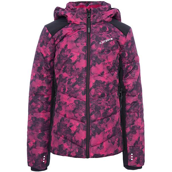 Куртка ICEPEAK для девочкиВерхняя одежда<br>Характеристики товара:<br><br>• цвет: фуксия<br>• состав ткани: 100% полиэстер<br>• подкладка: 100% полиэстер<br>• утеплитель: 100% полиэстер<br>• сезон: зима<br>• температурный режим: от -25 до +5<br>• особенности модели: с капюшоном<br>• капюшон: съемный<br>• плотность утеплителя: 220/180 г/м2<br>• застежка: молния<br>• страна бренда: Финляндия<br>• страна изготовитель: Китай<br><br>Обеспечить ребенку тепло и комфорт в морозы поможет такая куртка для девочки. Практичная детская куртка отлично подойдет для зимних морозов. Зимняя куртка дополнена удобными деталями - молния закрыта планкой, есть карманы и капюшон. <br><br>Куртку Luhta (Лухта) для девочки можно купить в нашем интернет-магазине.<br><br>Ширина мм: 356<br>Глубина мм: 10<br>Высота мм: 245<br>Вес г: 519<br>Цвет: фиолетово-розовый<br>Возраст от месяцев: 84<br>Возраст до месяцев: 96<br>Пол: Женский<br>Возраст: Детский<br>Размер: 128,176,164,152,140<br>SKU: 7264206