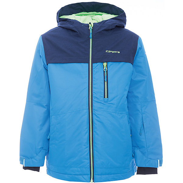 Куртка ICEPEAK для мальчикаВерхняя одежда<br>Куртка ICEPEAK для мальчика<br>Куртка для мальчика на молнии, комбинированная ткань color bloking, отстегивающийся капюшон, капюшон с ветрозащитной кулиской, молния закрыта планкой с внутренней стороны, защита подбородка от защемления, по воротнику теплая и мягкая флисовая вставка, теплые боковые карманы на молнии, карман для ski pass, рукав регулируется липучкой, эластичный манжет с прорезью для пальца, снегозащитная юбка со стянутой по краю плоской резиновой тесьмой с нескользящей поверхностью, утяжка в нижней части куртки, внутренний карман на молнии, светоотражающие элементы, утепление 120 гр. Рекомендованный температурный режим до -20 град. Ощущение тепла и холода носит субъективный характер и зависит от теплообмена ребенка.<br>Состав:<br>100% Полиэстер<br><br>Ширина мм: 356<br>Глубина мм: 10<br>Высота мм: 245<br>Вес г: 519<br>Цвет: голубой<br>Возраст от месяцев: 180<br>Возраст до месяцев: 192<br>Пол: Мужской<br>Возраст: Детский<br>Размер: 176,128,140,152,164<br>SKU: 7264237