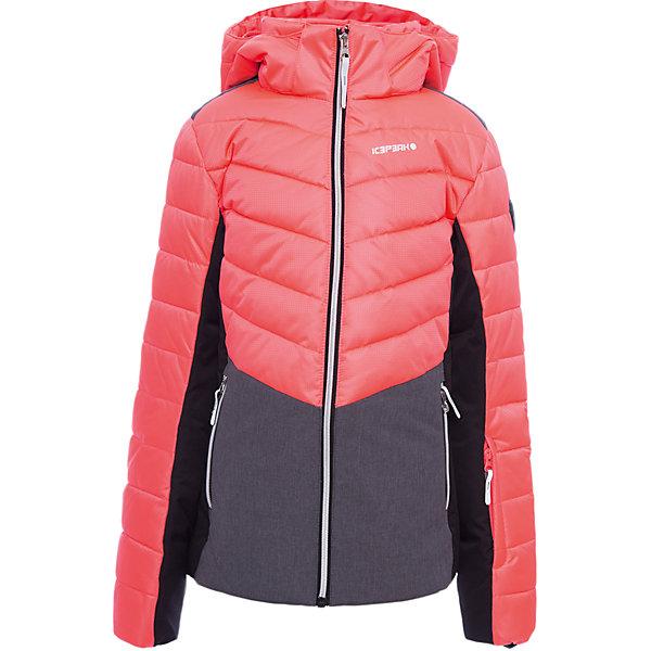 Куртка ICEPEAK для девочкиВерхняя одежда<br>Характеристики товара:  <br><br>• цвет: розовый;<br>• состав ткани: 100% полиэстер;<br>• подкладка: 100% полиэстер;<br>• утеплитель: 100% полиэстер; <br>• сезон: зима;<br>• температурный режим: от -25 до +5;<br>• особенности модели: с капюшоном; <br>• капюшон: съемный;<br>• плотность утеплителя: 200/115 г/м2;<br>• застежка: молния;<br>• страна бренда: Финляндия;<br>• страна изготовитель: Китай.<br><br>Обеспечить ребенку тепло и комфорт в морозы поможет такая куртка для девочки. Практичная детская куртка отлично подойдет для зимних морозов. Зимняя куртка дополнена удобными деталями - молния закрыта планкой, есть карманы и капюшон.   <br><br>Куртку Icepeak (Айспик) для девочки можно купить в нашем интернет-магазине.<br>Ширина мм: 356; Глубина мм: 10; Высота мм: 245; Вес г: 519; Цвет: розовый; Возраст от месяцев: 84; Возраст до месяцев: 96; Пол: Женский; Возраст: Детский; Размер: 128,176,164,152,140; SKU: 7264243;