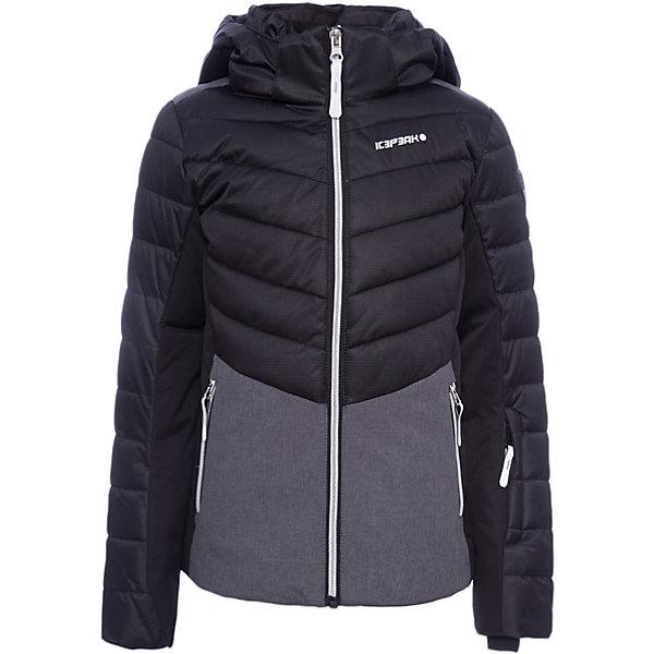 Куртка ICEPEAK для девочкиВерхняя одежда<br>Характеристики товара:<br><br>• цвет: черный<br>• состав ткани: 100% полиэстер<br>• подкладка: 100% полиэстер<br>• утеплитель: 100% полиэстер<br>• сезон: зима<br>• температурный режим: от -25 до +5<br>• особенности модели: с капюшоном<br>• капюшон: съемный<br>• плотность утеплителя: 200/115 г/м2<br>• застежка: молния<br>• страна бренда: Финляндия<br>• страна изготовитель: Китай<br><br>Черная зимняя куртка дополнена удобными деталями - молния закрыта планкой, есть карманы и капюшон. Обеспечить ребенку тепло и комфорт в морозы поможет такая куртка для девочки. Практичная детская куртка отлично подойдет для зимних морозов.<br><br>Куртку Luhta (Лухта) для девочки можно купить в нашем интернет-магазине.<br><br>Ширина мм: 356<br>Глубина мм: 10<br>Высота мм: 245<br>Вес г: 519<br>Цвет: черный<br>Возраст от месяцев: 180<br>Возраст до месяцев: 192<br>Пол: Женский<br>Возраст: Детский<br>Размер: 176,128,140,152,164<br>SKU: 7264255