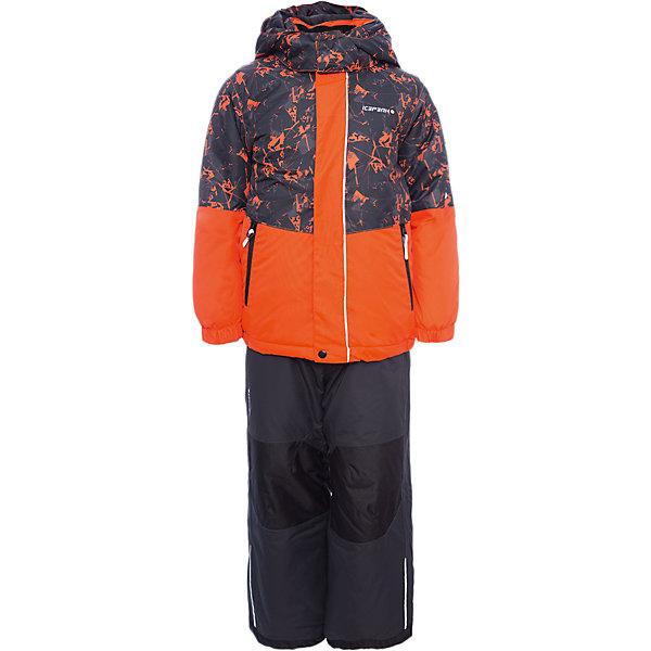 Комплект: куртка и брюки ICEPEAK для мальчикаВерхняя одежда<br>Характеристики товара:  <br><br>• цвет: оранжевый;<br>• комплектация: куртка и полукомбинезон;<br>• состав ткани: 100% полиэстер;<br>• подкладка: 100% полиэстер;<br>• утеплитель: 100% полиэстер; <br>• сезон: зима;<br>• температурный режим: от -25 до 0;<br>• особенности модели: с капюшоном; <br>• плотность утеплителя: 220/200 г/м2;<br>• капюшон: без меха, съемный;<br>• застежка: молния;<br>• страна бренда: Финляндия;<br>• страна изготовитель: Китай. <br><br>Яркий детский комплект для зимы от известного финского бренда Icepeak состоит из куртки и полукомбинезона. Комплект для мальчика дополнен лямками и капюшоном. Удобный теплый комплект для ребенка позволит наслаждаться зимой, не боясь замерзнуть.   Комплект: куртка и полукомбинезон Icepeak (Айспик) для мальчика можно купить в нашем интернет-магазине.<br>Ширина мм: 356; Глубина мм: 10; Высота мм: 245; Вес г: 519; Цвет: оранжевый; Возраст от месяцев: 18; Возраст до месяцев: 24; Пол: Мужской; Возраст: Детский; Размер: 92,122,116,110,104,98; SKU: 7264425;