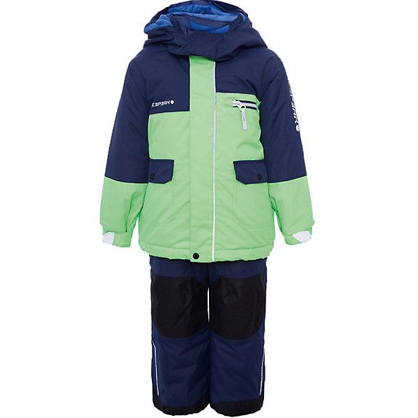 Комплект: куртка и брюки ICEPEAK для мальчикаВерхняя одежда<br>Характеристики товара:  <br><br>• цвет: зеленый;<br>• комплектация: куртка и полукомбинезон ;<br>• состав ткани: 100% полиэстер;<br>• подкладка: 100% полиэстер;<br>• утеплитель: 100% полиэстер; <br>• сезон: зима • температурный режим: от -25 до 0;<br>• особенности модели: с капюшоном;<br>• плотность утеплителя: 180/120 г/м2;<br>• капюшон: без меха, съемный;<br>• застежка: молния;<br>• страна бренда: Финляндия;<br>• страна изготовитель: Китай. <br><br>Такой детский комплект от известного финского бренда Icepeak состоит из удобной куртки и теплого полукомбинезона. Комплект для мальчика дополнен различными функциональными деталями. Удобный теплый комплект для ребенка позволит наслаждаться зимой, не боясь замерзнуть.   <br><br>Комплект: куртка и полукомбинезон Icepeak (Айспик) для мальчика можно купить в нашем интернет-магазине.<br>Ширина мм: 356; Глубина мм: 10; Высота мм: 245; Вес г: 519; Цвет: зеленый; Возраст от месяцев: 72; Возраст до месяцев: 84; Пол: Мужской; Возраст: Детский; Размер: 122,92,98,104,110,116; SKU: 7264439;