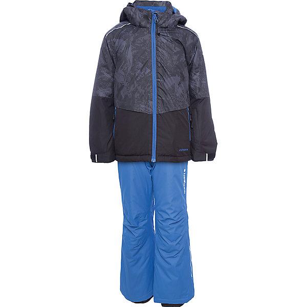 Комплект: куртка и брюки ICEPEAK для мальчикаВерхняя одежда<br>Характеристики товара:  <br><br>• цвет: синий;<br>• комплектация: куртка и полукомбинезон;<br>• состав ткани: 100% полиэстер;<br>• подкладка: 100% полиэстер;<br>• утеплитель: 100% полиэстер; <br>• сезон: зима;<br>• температурный режим: от -25 до 0;<br>• особенности модели: с капюшоном; <br>• плотность утеплителя: 160/100 г/м2;<br>• капюшон: без меха, съемный;<br>• застежка: молния;<br>• страна бренда: Финляндия;<br>• страна изготовитель: Китай. <br><br>Этот теплый комплект для ребенка позволит наслаждаться зимой, не боясь замерзнуть. Такой детский комплект от известного финского бренда Icepeak состоит из удобной куртки и теплого полукомбинезона. <br><br>Комплект для мальчика дополнен различными функциональными деталями.   Комплект: куртка и полукомбинезон Icepeak (Айспик) для мальчика можно купить в нашем интернет-магазине.<br>Ширина мм: 356; Глубина мм: 10; Высота мм: 245; Вес г: 519; Цвет: серый; Возраст от месяцев: 108; Возраст до месяцев: 120; Пол: Мужской; Возраст: Детский; Размер: 140,128,116,176,164,152; SKU: 7264453;