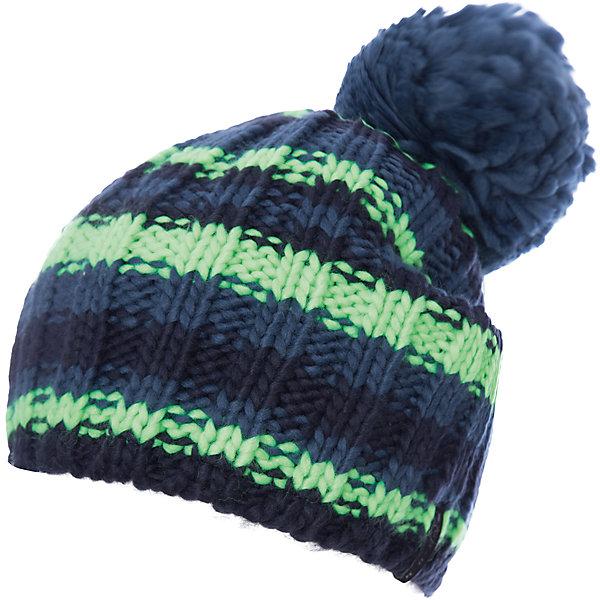 Шапка ICEPEAK для мальчикаГоловные уборы<br>Характеристики товара:<br><br>• цвет: синий<br>• состав: 100% акрил<br>• сезон: демисезон<br>• страна бренда: Финляндия<br>• страна изготовитель: Китай<br><br>Эта детская шапка декорирована и помпоном вывязанными полосками. Легкая шапка для ребенка дополнена логотипом. Такая шапка для мальчика мягко сидит на голове благодаря качественному материалу. <br><br>Шапку Luhta (Лухта) для мальчика можно купить в нашем интернет-магазине.<br><br>Ширина мм: 88<br>Глубина мм: 155<br>Высота мм: 26<br>Вес г: 106<br>Цвет: синий<br>Возраст от месяцев: 48<br>Возраст до месяцев: 60<br>Пол: Мужской<br>Возраст: Детский<br>Размер: 52<br>SKU: 7264492