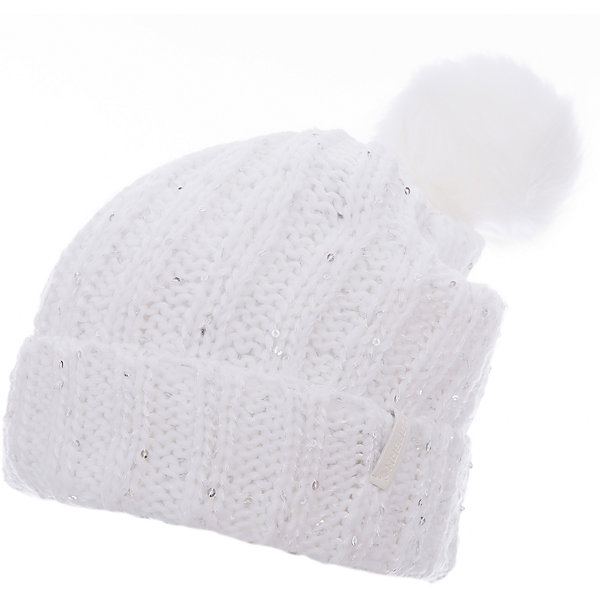 Шапка ICEPEAK для девочкиГоловные уборы<br>Характеристики товара:  <br><br>• цвет: белый;<br>• состав: 100% акрил;<br>• сезон: демисезон;<br>• пайетки;<br>• страна бренда: Финляндия;<br>• страна изготовитель: Китай. <br><br>Оригинальная детская шапка декорирована пайетками. Легкая шапка для ребенка дополнена логотипом. Такая шапка для девочки мягко сидит на голове благодаря качественному материалу.   <br><br>Шапку Icepeak (Айспик) для девочки можно купить в нашем интернет-магазине.<br>Ширина мм: 88; Глубина мм: 155; Высота мм: 26; Вес г: 106; Цвет: белый; Возраст от месяцев: 72; Возраст до месяцев: 120; Пол: Женский; Возраст: Детский; Размер: 54-56; SKU: 7264504;