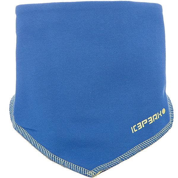 Шарф ICEPEAK для мальчикаШарфы, платки<br>Характеристики товара:  <br><br>• цвет: синий;<br>• состав: 100% хлопок;<br>• сезон: демисезон;<br>• застежка: липучка; <br>• страна бренда: Финляндия;<br>• страна изготовитель: Китай. <br><br>Хлопковый шарф для детей обеспечивает комфорт благодаря мягкой ткани. Этот шарф для ребенка декорирован логотипом. Необычный детский шарф надежно фиксируется на шее благодаря липучкам.   <br><br>Шарф Icepeak (Айспик) для мальчика можно купить в нашем интернет-магазине.<br>Ширина мм: 88; Глубина мм: 155; Высота мм: 26; Вес г: 106; Цвет: синий; Возраст от месяцев: 84; Возраст до месяцев: 1188; Пол: Мужской; Возраст: Детский; Размер: one size; SKU: 7264540;