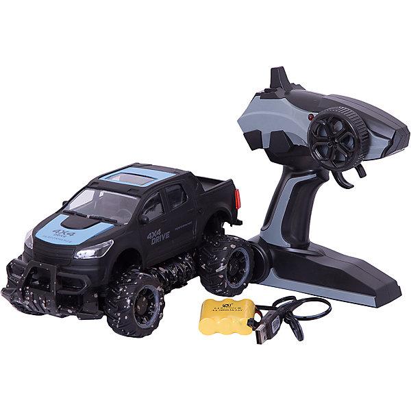 Радиоуправляемая машинка Пламенный мотор Внедорожник ПМ 40, синийРадиоуправляемые машины<br>Характеристики товара:<br><br>• возраст: от 3 лет;<br>• материал: пластик;<br>• в комплекте: машина, пульт, USB адаптер;<br>• тип батареек: 2 батарейки АА (для пульта);<br>• наличие батареек: входят в комплект;<br>• масштаб машины: 1:18;<br>• диаметр колес: 47 мм;<br>• клиренс: 21 мм;<br>• аккумулятор: Ni-Cd 700 mAh 3,6 V;<br>• радиус действия пульта: 30 м;<br>• время работы: 15-20 минут;<br>• время зарядки аккумулятора: 2,5 часа;<br>• размер упаковки: 23х11х10 см;<br>• вес упаковки: 880 гр.;<br>• страна производитель: Китай.<br><br>Радиоуправляемая машина «Внедорожник» синяя - увлекательная игрушка на радиоуправлении, которая умеет ездить в разных направлениях. Машинка способна достигать скорости до 15 км/час. Игрушка оснащена мягкими и большими шинами, которые смягчают неровности при перемещении по грунту или пересеченной местности, а также задним приводом. Машинка может использоваться для игр как дома, так и на улице.Радиоуправляемую машину «Внедорожник» синюю можно приобрести в нашем интернет-магазине.<br>Ширина мм: 230; Глубина мм: 110; Высота мм: 100; Вес г: 880; Возраст от месяцев: 36; Возраст до месяцев: 2147483647; Пол: Мужской; Возраст: Детский; SKU: 7265499;