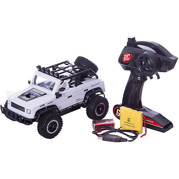 Радиоуправляемая машинка Пламенный мотор Джип Сафари ПМ-020, белыйРадиоуправляемые машины<br>Характеристики товара:<br><br>• возраст: от 3 лет;<br>• материал: пластик;<br>• в комплекте: машина, пульт, USB адаптер;<br>• тип батареек: 1 крона 9V (для пульта);<br>• наличие батареек: входят в комплект;<br>• масштаб машины: 1:16;<br>• диаметр колес: 56 мм;<br>• клиренс: 14 мм;<br>• аккумулятор: Ni-Cd 500 mAh 4,8 V;<br>• радиус действия пульта: 50 м;<br>• время работы: 10 минут;<br>• время зарядки аккумулятора: 2 часа;<br>• размер упаковки: 24х14х13 см;<br>• вес упаковки: 1,08 кг;<br>• страна производитель: Китай.<br><br>Радиоуправляемая машина «Джип Сафари» белая - увлекательная игрушка на радиоуправлении, которая умеет ездить в разных направлениях. Машинка способна достигать скорости до 15 км/час. Игрушка оснащена мягкими и большими шинами, которые смягчают неровности при перемещении по грунту или пересеченной местности, а также задним приводом. Благодаря большому радиусу действия пульта может использоваться также на улице.Радиоуправляемую машину «Джип Сафари» белую можно приобрести в нашем интернет-магазине.<br><br>Ширина мм: 240<br>Глубина мм: 140<br>Высота мм: 130<br>Вес г: 1080<br>Возраст от месяцев: 36<br>Возраст до месяцев: 2147483647<br>Пол: Мужской<br>Возраст: Детский<br>SKU: 7265516
