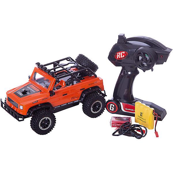 Радиоуправляемая машинка Пламенный мотор Джип Сафари ПМ-020, оранжевыйРадиоуправляемые машины<br>Характеристики товара:<br><br>• возраст: от 3 лет;<br>• материал: пластик;<br>• в комплекте: машина, пульт, USB адаптер;<br>• тип батареек: 1 крона 9V (для пульта);<br>• наличие батареек: входят в комплект;<br>• масштаб машины: 1:16;<br>• диаметр колес: 56 мм;<br>• клиренс: 14 мм;<br>• аккумулятор: Ni-Cd 500 mAh 4,8 V;<br>• радиус действия пульта: 50 м;<br>• время работы: 10 минут;<br>• время зарядки аккумулятора: 2 часа;<br>• размер упаковки: 24х14х13 см;<br>• вес упаковки: 1,08 кг;<br>• страна производитель: Китай.<br><br>Радиоуправляемая машина «Джип Сафари» оранжевая - увлекательная игрушка на радиоуправлении, которая умеет ездить в разных направлениях. Машинка способна достигать скорости до 15 км/час. Игрушка оснащена мягкими и большими шинами, которые смягчают неровности при перемещении по грунту или пересеченной местности, а также задним приводом. Благодаря большому радиусу действия пульта может использоваться также на улице.Радиоуправляемую машину «Джип Сафари» оранжевую можно приобрести в нашем интернет-магазине.<br>Ширина мм: 240; Глубина мм: 140; Высота мм: 130; Вес г: 1080; Возраст от месяцев: 36; Возраст до месяцев: 2147483647; Пол: Мужской; Возраст: Детский; SKU: 7265518;