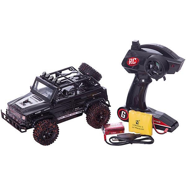 Радиоуправляемая машинка Пламенный мотор Джип Сафари ПМ-020, черный грязныйРадиоуправляемые машины<br>Характеристики товара:<br><br>• возраст: от 3 лет;<br>• материал: пластик;<br>• в комплекте: машина, пульт, USB адаптер;<br>• тип батареек: 1 крона 9V (для пульта);<br>• наличие батареек: входят в комплект;<br>• масштаб машины: 1:16;<br>• диаметр колес: 56 мм;<br>• клиренс: 14 мм;<br>• аккумулятор: Ni-Cd 500 mAh 4,8 V;<br>• радиус действия пульта: 50 м;<br>• время работы: 10 минут;<br>• время зарядки аккумулятора: 2 часа;<br>• размер упаковки: 24х14х13 см;<br>• вес упаковки: 1,08 кг;<br>• страна производитель: Китай.<br><br>Радиоуправляемая машина «Джип Сафари» черная - увлекательная игрушка на радиоуправлении, которая умеет ездить в разных направлениях. Машинка способна достигать скорости до 15 км/час. Игрушка оснащена мягкими и большими шинами, которые смягчают неровности при перемещении по грунту или пересеченной местности, а также задним приводом. Благодаря большому радиусу действия пульта может использоваться также на улице.Радиоуправляемую машину «Джип Сафари» черную можно приобрести в нашем интернет-магазине.<br>Ширина мм: 240; Глубина мм: 140; Высота мм: 130; Вес г: 1080; Возраст от месяцев: 36; Возраст до месяцев: 2147483647; Пол: Мужской; Возраст: Детский; SKU: 7265519;