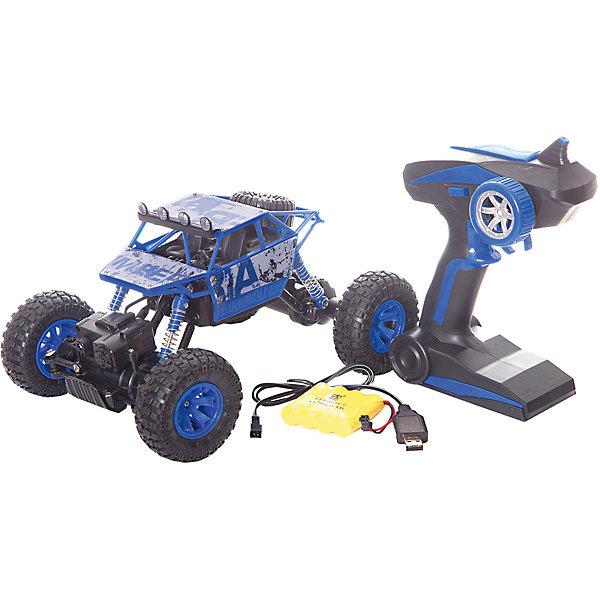 Радиоуправляемая машинка Пламенный мотор Краулер-Багги ПМ-005, синяяРадиоуправляемые машины<br>Характеристики товара:<br><br>• возраст: от 3 лет;<br>• материал: пластик;<br>• в комплекте: машина, пульт;<br>• масштаб машины: 1:18;<br>• диаметр колес: 77 мм;<br>• клиренс: 20 мм;<br>• радиус действия пульта: 50 м;<br>• время работы: 15-20 минут;<br>• время зарядки аккумулятора: 4 часа;<br>• размер упаковки: 26х18х13 см;<br>• вес упаковки: 1,3 кг;<br>• страна производитель: Китай.<br><br>Радиоуправляемая машина «Краулер Багги» - увлекательная игрушка на радиоуправлении, которая умеет ездить в разных направлениях. Машинка развивает скорость до 10 км/час. Благодаря большим колесам она может ездить по любой поверхности, даже по грунту или песку. Передние и задние амортизаторы защищают кузов. Благодаря большому радиусу действия пульта может использоваться как дома, так и на улице.Радиоуправляемую машину «Краулер Багги» можно приобрести в нашем интернет-магазине.<br>Ширина мм: 260; Глубина мм: 180; Высота мм: 130; Вес г: 1300; Возраст от месяцев: 36; Возраст до месяцев: 2147483647; Пол: Мужской; Возраст: Детский; SKU: 7265529;