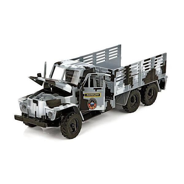 Машинка Пламенный мотор Спецтранспорт Омон полиция. МВД РоссииМашинки<br>Характеристики товара:<br><br>• возраст: от 3 лет;<br>• материал: пластик;<br>• масштаб машины: 1:32;<br>• тип батареек: 3 батарейки LR44;<br>• наличие батареек: входят в комплект;<br>• размер упаковки: 33х14х15 см;<br>• вес упаковки: 670 гр.;<br>• страна производитель: Китай.<br><br>Машина «Омон Полиция» Пламенный мотор — машинка из серии «Спецтранспорт». Она оснащена инерционным механизмом. У машинки открываются двери и капот, можно рассмотреть, что находится внутри кабины. Во время движения горят фары и раздаются звуковые сигналы. Выполнена машинка из качественного пластика.<br><br>Машину «Омон Полиция» Пламенный мотор можно приобрести в нашем интернет-магазине.<br>Ширина мм: 330; Глубина мм: 140; Высота мм: 150; Вес г: 670; Возраст от месяцев: 36; Возраст до месяцев: 2147483647; Пол: Мужской; Возраст: Детский; SKU: 7265532;
