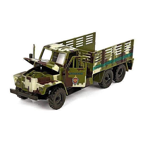 Машинка Пламенный мотор Спецтранспорт Пограничные войскаВоенный транспорт<br>Характеристики товара:<br><br>• возраст: от 3 лет;<br>• материал: пластик;<br>• масштаб машины: 1:32;<br>• тип батареек: 3 батарейки LR44;<br>• наличие батареек: входят в комплект;<br>• размер упаковки: 33х14х15 см;<br>• вес упаковки: 670 гр.;<br>• страна производитель: Китай.<br><br>Машина «Пограничные войска» Пламенный мотор — машинка из серии «Спецтранспорт». Она оснащена инерционным механизмом. У машинки открываются двери и капот, можно рассмотреть, что находится внутри кабины. Во время движения горят фары и раздаются звуковые сигналы. Выполнена машинка из качественного пластика.<br><br>Машину «Пограничные войска» Пламенный мотор можно приобрести в нашем интернет-магазине.<br>Ширина мм: 330; Глубина мм: 135; Высота мм: 155; Вес г: 670; Возраст от месяцев: 36; Возраст до месяцев: 2147483647; Пол: Мужской; Возраст: Детский; SKU: 7265533;