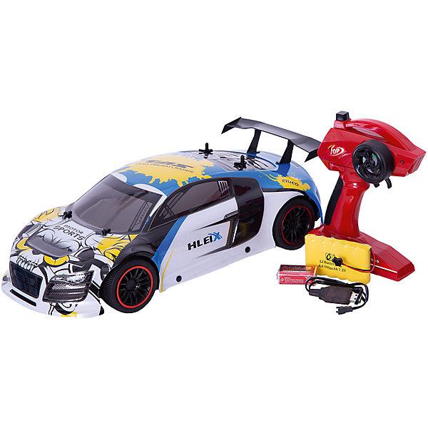 Радиоуправляемая машинка Пламенный мотор Спорткар ПМ-200, синяяРадиоуправляемые машины<br>Характеристики товара:<br><br>• возраст: от 3 лет;<br>• материал: пластик;<br>• в комплекте: машина, пульт;<br>• тип батареек: 1 крона 9V (для пульта);<br>• наличие батареек: входят в комплект;<br>• масштаб машины: 1:10;<br>• диаметр колес: 66 мм;<br>• клиренс: 13 мм;<br>• радиус действия пульта: 50 м;<br>• время работы: 15-20 минут;<br>• время зарядки аккумулятора: 4 часа;<br>• размер упаковки: 42х20х13 см;<br>• вес упаковки: 1,85 кг;<br>• страна производитель: Китай.<br><br>Радиоуправляемая машина «Спорткар» Пламенный мотор белая выполнена в виде гоночного автомобиля. Машина управляется пультом и умеет ездить в разных направлениях. Машинка способна достигать скорости до 15 км/час. Лексановый корпус защищает игрушку от повреждений, царапин при столкновении с препятствием. Машинка может использоваться для игр как дома, так и на улице.Радиоуправляемую машину «Спорткар» Пламенный мотор белую можно приобрести в нашем интернет-магазине.<br>Ширина мм: 420; Глубина мм: 200; Высота мм: 130; Вес г: 1850; Возраст от месяцев: 36; Возраст до месяцев: 2147483647; Пол: Мужской; Возраст: Детский; SKU: 7265563;