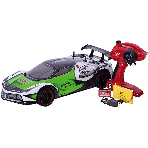 Радиоуправляемая машинка Пламенный мотор Спорткар ПМ-200, салатоваяРадиоуправляемые машины<br>Характеристики товара:<br><br>• возраст: от 3 лет;<br>• материал: пластик;<br>• в комплекте: машина, пульт;<br>• тип батареек: 1 крона 9V (для пульта);<br>• наличие батареек: входят в комплект;<br>• масштаб машины: 1:10;<br>• диаметр колес: 66 мм;<br>• клиренс: 13 мм;<br>• радиус действия пульта: 50 м;<br>• время работы: 15-20 минут;<br>• время зарядки аккумулятора: 4 часа;<br>• размер упаковки: 42х20х13 см;<br>• вес упаковки: 1,85 кг;<br>• страна производитель: Китай.<br><br>Радиоуправляемая машина «Спорткар» Пламенный мотор зеленая выполнена в виде гоночного автомобиля. Машина управляется пультом и умеет ездить в разных направлениях. Машинка способна достигать скорости до 15 км/час. Лексановый корпус защищает игрушку от повреждений, царапин при столкновении с препятствием. Машинка может использоваться для игр как дома, так и на улице.Радиоуправляемую машину «Спорткар» Пламенный мотор зеленую можно приобрести в нашем интернет-магазине.<br>Ширина мм: 420; Глубина мм: 200; Высота мм: 130; Вес г: 1850; Возраст от месяцев: 36; Возраст до месяцев: 2147483647; Пол: Мужской; Возраст: Детский; SKU: 7265564;