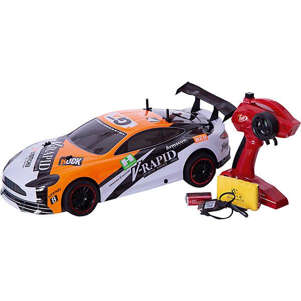 Радиоуправляемая машинка Пламенный мотор Спорткар ПМ-200, оранжеваяРадиоуправляемые машины<br>Характеристики товара:<br><br>• возраст: от 3 лет;<br>• материал: пластик;<br>• в комплекте: машина, пульт;<br>• тип батареек: 1 крона 9V (для пульта);<br>• наличие батареек: входят в комплект;<br>• масштаб машины: 1:10;<br>• диаметр колес: 66 мм;<br>• клиренс: 13 мм;<br>• радиус действия пульта: 50 м;<br>• время работы: 15-20 минут;<br>• время зарядки аккумулятора: 4 часа;<br>• размер упаковки: 42х20х13 см;<br>• вес упаковки: 1,85 кг;<br>• страна производитель: Китай.<br><br>Радиоуправляемая машина «Спорткар» Пламенный мотор оранжевая выполнена в виде гоночного автомобиля. Машина управляется пультом и умеет ездить в разных направлениях. Машинка способна достигать скорости до 15 км/час. Лексановый корпус защищает игрушку от повреждений, царапин при столкновении с препятствием. Машинка может использоваться для игр как дома, так и на улице.Радиоуправляемую машину «Спорткар» Пламенный мотор оранжевую можно приобрести в нашем интернет-магазине.<br>Ширина мм: 420; Глубина мм: 200; Высота мм: 130; Вес г: 1850; Возраст от месяцев: 36; Возраст до месяцев: 2147483647; Пол: Мужской; Возраст: Детский; SKU: 7265565;