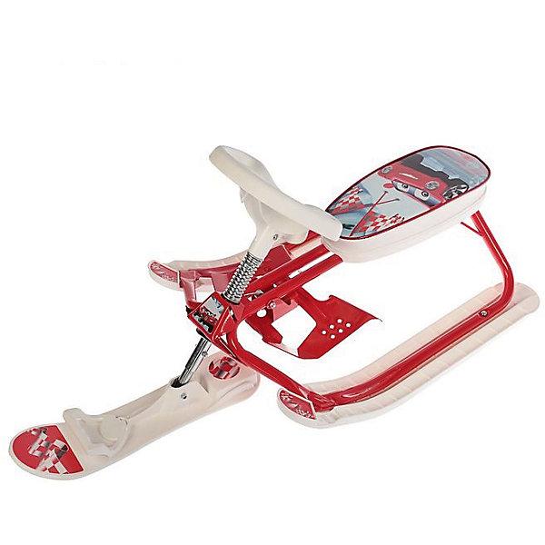 Снегокат Дэми Kiddy Super, АвтоСнегокаты<br>Характеристики:<br><br>• возраст ребенка: от 18 месяцев до 7 лет;<br>• грузоподъемность: не более 60 кг;<br>• растущий снегокат;<br>• устойчивость на поворотах;<br>• автоматическое скручивание буксировочного шнура;<br>• назначение: карвинг, езда на мягком и жестком склоне;<br>• регулируемый размер сиденья снегоката;<br>• снегокат легкий, ребенок сможет самостоятельно поднимать его на склон;<br>• сиденье украшено изображениями любимых героев<br>• материал: металл, углепластик;<br>• размер снегоката: 92,5х48,5х43 см;<br>• высота сиденья от земли: от 22,5 см;<br>• вес снегоката: 5 кг;<br>• размер упаковки: 49х73х31 см;<br>• вес в упаковке: 5,2 кг.<br><br>Снегокат Kiddy super Dami СНК.10-03 предназначен для активных игр в зимний период. Легкий и маневренный, снегокат устойчив на поворотах, ребенок сам управляет транспортным средством и самостоятельно поднимает его на склон. Снегокат растет вместе с ребенком: полуторагодовалого малыша можно посадить на снегокат как на санки, дошкольник сам съедет на снегокате с горки. <br><br>Cнегокат СНК.10-03 «Kiddy super» «Авто» можно купить в нашем интернет-магазине.<br><br>Ширина мм: 1050<br>Глубина мм: 485<br>Высота мм: 435<br>Вес г: 5000<br>Возраст от месяцев: 180<br>Возраст до месяцев: 84<br>Пол: Унисекс<br>Возраст: Детский<br>SKU: 7265655