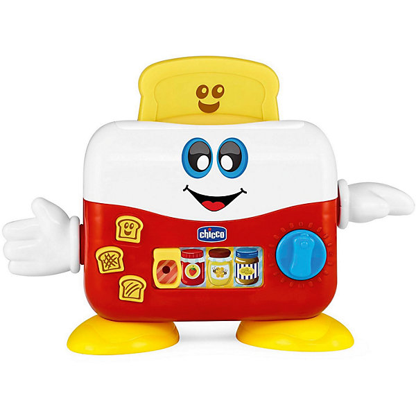 Музыкальная игрушка Chicco Мистер ТостерРазвивающие центры<br>Характеристики:<br><br>• игрушка для сюжетно-ролевых игр;<br>• электронная игрушка в форме тостера;<br>• звуковые и световые эффекты;<br>• воспроизведение мелодий;<br>• вращение таймера;<br>• подвижные ручки тостера;<br>• тип батареек: 2 шт. типа АА 1,5 В;<br>• батарейки в комплекте;<br>• размер тостера: 23х14х7 см;<br>• материал: пластик.<br><br>Музыкальная игрушка Chicco предлагает малышу приготовить аппетитные тосты. Игра сопровождается звуками и мелодиями. Рычаг таймера вращается, ручки тостера подвижны. В процессе игры развивается цветовосприятие, приходит осознание причинно-следственных связей, ребенок изучает и осваивает работу электронных механизмов. <br><br>Музыкальную игрушку «Мистер Toast» можно купить в нашем интернет-магазине.<br><br>Ширина мм: 210<br>Глубина мм: 85<br>Высота мм: 250<br>Вес г: 474<br>Возраст от месяцев: 12<br>Возраст до месяцев: 36<br>Пол: Унисекс<br>Возраст: Детский<br>SKU: 7265684