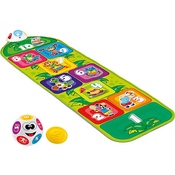 Музыкальный коврик Chicco КлассикиТанцевальные коврики<br>Характеристики:<br><br>• динамичная игра для активных игр на улице и дома;<br>• световые и звуковые эффекты;<br>• активация во время прыжка;<br>• электронный игровой коврик;<br>• 2 режима игры;<br>• монетка и шарик в комплекте;<br>• монетка для игры в классическом варианте;<br>• шарик с изображением 9 упражнений;<br>• развитие моторных навыков и точности;<br>• материал: полипропилен, пластик;<br>• тип батареек: 3 шт. типа АААх1,5 В;<br>• батарейки приобретаются отдельно.<br><br>Музыкальный коврик Chicco Классики – усовершенствованная игра известных классиков. Электронная дорожка с музыкальными эффектами разнообразит игру, а дополнительные режимы и возможность перейти на новый раунд помогут в развитии двигательной активности, ловкости и восприятии. <br><br>Музыкальный коврик «Классики» можно купить в нашем интернет-магазине.<br><br>Ширина мм: 300<br>Глубина мм: 100<br>Высота мм: 450<br>Вес г: 1008<br>Возраст от месяцев: 24<br>Возраст до месяцев: 60<br>Пол: Унисекс<br>Возраст: Детский<br>SKU: 7265688