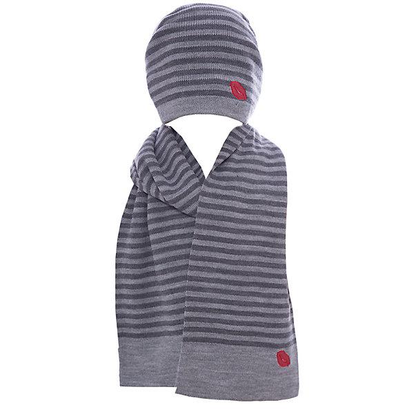 Комплект Wojcik для девочкиГоловные уборы<br>Характеристики товара:<br><br>• цвет: серый;<br>• состав ткани:100% акрил;<br>• состав комплекта: шарф и шапка;<br>• сезон: демисезон;<br>• страна бренда: Польша;<br>• комфорт и качество.<br><br>Бренд Wojcik - это польская детская одежда отличного качества по доступной цене. Детский лонгслив декорирован принтом.<br><br>Комплект шапка и шарф можно купить в нашем интернет-магазине.<br>Ширина мм: 215; Глубина мм: 88; Высота мм: 191; Вес г: 336; Цвет: синий; Возраст от месяцев: 24; Возраст до месяцев: 36; Пол: Женский; Возраст: Детский; Размер: 98,122,116,110,104; SKU: 7266783;