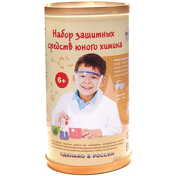 Серия лучших химических экспериментов Защитный набор юного химикаХимия и физика<br>Характеристики товара: <br><br>• возраст: от 6 лет;<br>• материал: пластик, латекс;<br>• в комплекте: защитные очки, респиратор, перчатки нитриловые, перчатки латексные, защитный фартук;<br>• размер упаковки: 19х10х10 см;<br>• вес упаковки: 200 гр.;<br>• страна производитель: Россия.<br><br>Защитный набор юного химика Qiddycome создан специально для защиты во время проведения химических экспериментов. Он включает в себя все необходимые предметы защиты, которые обезопасят ребенка от попадания реактивов.<br><br>Защитный набор юного химика Qiddycome можно приобрести в нашем интернет-магазине.<br><br>Ширина мм: 190<br>Глубина мм: 100<br>Высота мм: 100<br>Вес г: 200<br>Возраст от месяцев: 72<br>Возраст до месяцев: 2147483647<br>Пол: Унисекс<br>Возраст: Детский<br>SKU: 7272077