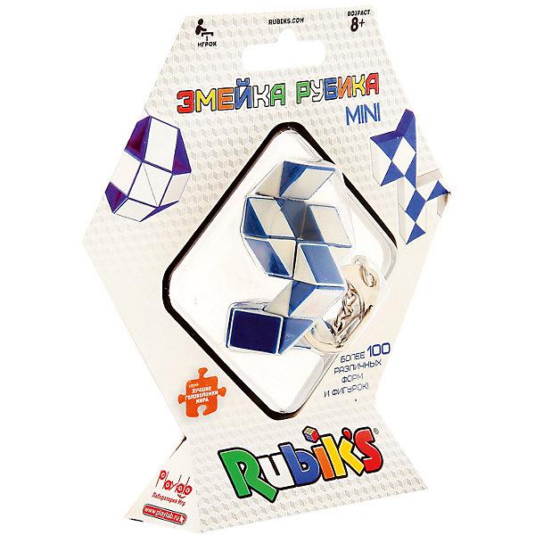 Брелок Rubiks Змейка, 24 элементаГоловоломки Кубик Рубика<br>Характеристики:<br><br>• игрушка-брелок с цепочкой и кольцом;<br>• уменьшенная версия классической Змейки: в 2 раза меньше;<br>• грани: 3х3;<br>• размер брелка-змейки в выпрямленном состоянии: 21х1,3х0,8 см;<br>• материал: пластик;<br>• размер упаковки: 14,5х3,5х15 см;<br>• вес: 80 г.<br><br>Полнофункциональная версия змейки представляет собой игрушку-брелок Rubiks. Брелок можно носить на ключах, рюкзаке или сумке. 24 элемента змейки дают возможность собрать сотни фигур в компактном исполнении.<br><br>Брелок «Змейка», 24 элемента можно купить в нашем интернет-магазине.<br><br>Ширина мм: 145<br>Глубина мм: 35<br>Высота мм: 150<br>Вес г: 80<br>Возраст от месяцев: 84<br>Возраст до месяцев: 2147483647<br>Пол: Унисекс<br>Возраст: Детский<br>SKU: 7272121