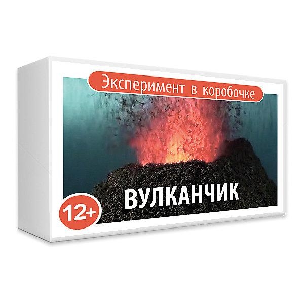Набор для опытов Простая Наука ВулканчикХимия и физика<br>Характеристики:<br><br>• химическая лаборатория в домашних условиях;<br>• извержение миниатюрного вулкана;<br>• огонь, пепел и вулканический тор;<br>• ингредиенты в комплекте;<br>• обратите внимание: эксперимент проводится взрослыми, дети - зрители;<br>• состав набора: бихромат аммония;<br>• размер упаковки: 9х6х2,5 см;<br>• вес: 40 г.<br><br>Провести химический эксперимент и сделать извержение вулкана просто: необходимо приобрести набор опытов Вулканчик. Происходит самоподдерживаемая экзотермическая реакция разложения бихромата аммония, которая похожа на извержение настоящего вулкана в миниатюрном размере. <br><br>Творческий процесс:<br><br>• содержимое пакетика высыпать горкой;<br>• сделать углубление сверху;<br>• конструкция поджигается;<br>• происходит процесс разложения;<br>• наблюдаем извержение вулкана;<br>• длительность эксперимента: 10 минут;<br>• помещение должно хорошо проветриваться.<br><br>Эксперимент в коробочке Вулканчик можно купить в нашем интернет-магазине.<br>Ширина мм: 25; Глубина мм: 90; Высота мм: 60; Вес г: 40; Возраст от месяцев: 144; Возраст до месяцев: 192; Пол: Унисекс; Возраст: Детский; SKU: 7272128;