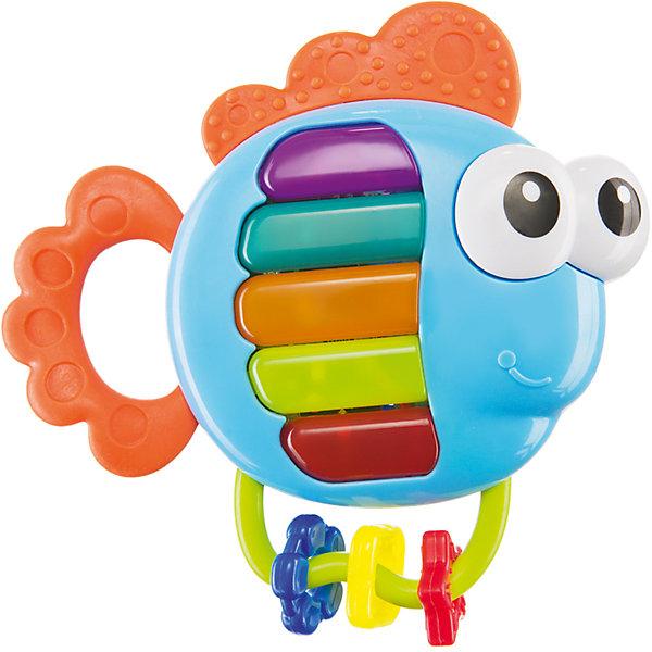 Развивающая игрушка-погремушка Happy Baby Piano FishИгрушки для новорожденных<br>Характеристики:<br><br>• музыкальная игрушка: 2 режима работы;<br>• 1 – кнопки пианино, 2 – отдельная мелодия на каждой кнопке;<br>• прорезыватель для зубов;<br>• рельефная поверхность – массажный эффект;<br>• перекатные цветочки на дуге;<br>• яркое цветовое решение;<br>• материал: пластик;<br>• размер упаковки: 20,5х14,8х3,2 см;<br>• вес: 154 г.<br><br>Музыка развивает чувство ритма, музыкальный слух, память и воображение. В процессе изучения и рассматривания рыбки ребенок знакомится с цветовой гаммой окружающего мира, учится зрительно сосредотачиваться. Применение прорезывателя помогает устранить отечность и усилить циркуляцию крови.<br><br>Музыкальная игрушка «Piano Fish» можно купить в нашем интернет-магазине.<br>Ширина мм: 14; Глубина мм: 3; Высота мм: 20; Вес г: 154; Возраст от месяцев: 3; Возраст до месяцев: 36; Пол: Унисекс; Возраст: Детский; SKU: 7276409;