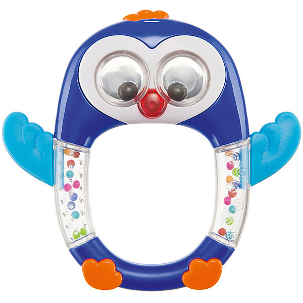Музыкальная погремушка Happy Baby Penguin Lo-LoИгрушки для новорожденных<br>Характеристики:<br><br>• музыкальная погремушка в виде пингвинчика;<br>• внутри прозрачного контейнера находятся цветные шарики, которые создают шумовой эффект во время перекатывания;<br>• имеется прорезыватель-массажер для десен;<br>• круглая ручка-держатель;<br>• материал: пластик;<br>• размер упаковки: 20,5х14,8х2,7 см;<br>• вес: 130 г.<br><br>Музыкальная игрушка с мелодичным перезвоном шариков внутри пингвинчика привлекает внимание крохи, создает шумовой эффект, развивает слуховое восприятие и внимание. Прорезыватель с рельефной поверхностью дает возможность облегчить болезненные проявления прорезывания зубов. Массирование воспаленных десен успокаивает и отвлекает ребенка. <br><br>Музыкальную погремушку «Penguin Lo-Lo» можно купить в нашем интернет-магазине.<br>Ширина мм: 14; Глубина мм: 2; Высота мм: 20; Вес г: 130; Возраст от месяцев: 3; Возраст до месяцев: 36; Пол: Унисекс; Возраст: Детский; SKU: 7276411;