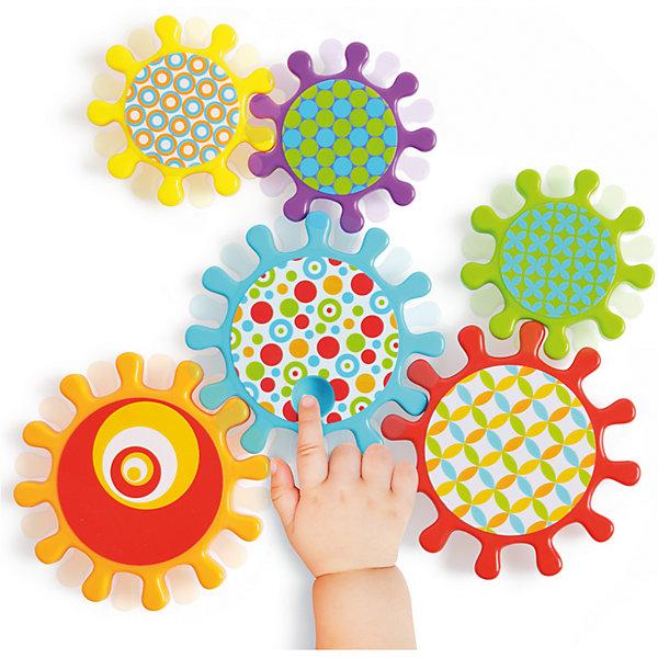 Развивающий конструктор Happy Baby MechanixРазвивающие игрушки<br>Характеристики:<br><br>• набор зубчатых колес разного диаметра;<br>• эффект шестеренок;<br>• углубление для пальчика ребенка, чтобы активировать цепь;<br>• способ крепления: присоски;<br>• в комплекте: 3 больших и 3 маленьких колеса;<br>• материал: пластик;<br>• размер упаковки: 32,5х22х4,2 см;<br>• вес: 388 г.<br><br>Развивающий набор игрушек Mechanix позволяет соорудить с ребенком настоящую движущуюся цепь и «оживить» ее. Набор состоит из 6 шестеренок, последовательное соединение которых дает возможность привести цепь в движение: одна шестеренка активирует другую, все шестеренки вращаются. В процессе игры ребенок имеет возможность наблюдать за процессом вращения шестеренок, активно участвовать в активации данного процесса. <br><br>Набор игрушек «Mechanix» можно купить в нашем интернет-магазине.<br><br>Ширина мм: 22<br>Глубина мм: 4<br>Высота мм: 32<br>Вес г: 388<br>Возраст от месяцев: 9<br>Возраст до месяцев: 36<br>Пол: Унисекс<br>Возраст: Детский<br>SKU: 7276413