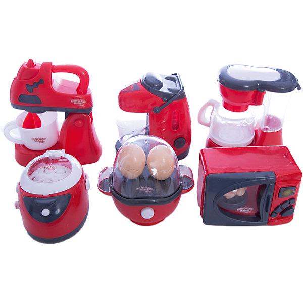 Игровой набор Abtoys Помогаю маме Кухонная техника с аксессуарамиИгрушечная бытовая техника<br>Характеристики товара:<br><br>• возраст: от 3 лет;<br>• материал: пластик;<br>• в комплекте: кофеварка с кофейником, яйцеварка, яйцо 2 шт., мультиварка, микроволновая печь, курица, соковыжималка, термопот, чашка, ложка;<br>• тип батареек: 12 батареек АА;<br>• наличие батареек: в комплект не входят;<br>• размер упаковки: 38х28х9,5 см;<br>• вес упаковки: 900 гр.;<br>• страна производитель: Китай.Игровой набор «Помогаю маме. Кухонная техника» Abtoys познакомит юную хозяйку с устройством и назначением кухонной техники и позволит приготовить вкусные блюда своим любимым куклам. Игрушки оснащены световыми и звуковыми эффектами. Игрушки выполнены из качественного пластика. <br><br>Игровой набор «Помогаю маме. Кухонная техника» Abtoys можно приобрести в нашем интернет-магазине.<br><br>Ширина мм: 380<br>Глубина мм: 95<br>Высота мм: 280<br>Вес г: 900<br>Возраст от месяцев: 36<br>Возраст до месяцев: 120<br>Пол: Женский<br>Возраст: Детский<br>SKU: 7276539