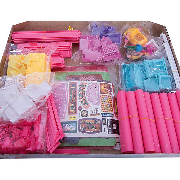 Кукольный дом Abtoys В гостях у куклы с мебелью и человечками, 136 деталейДомики для кукол<br>Характеристики товара:<br><br>• возраст: от 3 лет;<br>• материал: пластик;<br>• в комплекте: 136 деталей;<br>• размер упаковки: 43,5х33х5 см;<br>• вес упаковки: 1,083 кг;<br>• страна производитель: Китай.<br><br>Кукольный дом «В гостях у куклы» Abtoys представляет собой кукольный домик из 2 этажей с небольшой террасой. Все предметы мебели девочка сможет расставлять по своему усмотрению. В набор включены мини-фигурки.<br><br>Кукольный дом «В гостях у куклы» Abtoys можно приобрести в нашем интернет-магазине.<br><br>Ширина мм: 435<br>Глубина мм: 50<br>Высота мм: 330<br>Вес г: 1080<br>Возраст от месяцев: 36<br>Возраст до месяцев: 120<br>Пол: Женский<br>Возраст: Детский<br>SKU: 7276542